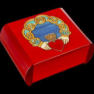 Claddagh Secret Box - Red