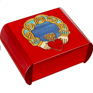 Claddagh Secret Box - Red