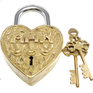 Puzzle Solution for Heart Trick Padlock - 3 Monkeys