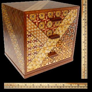 6 Sun 3 Drawers Jewelry Box - Yosegi / Zaiku