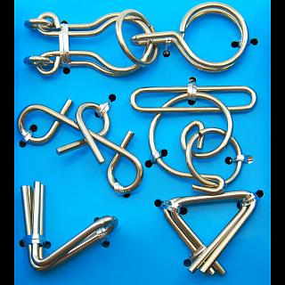 Puzzle Solution for Hanayama Wire Puzzle Set - Blue