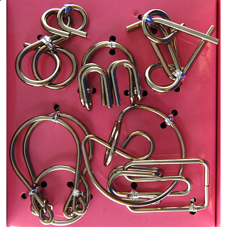 Puzzle Solution for Hanayama Wire Puzzle Set - Pink