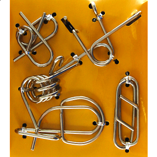 Puzzle Solution for Hanayama Wire Puzzle Set - Yellow