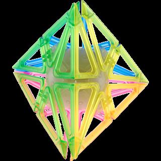 Frame Pyraminx - 4 Color Transparent Glow-in-the-Dark