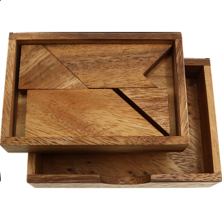 Letter T in Wood Box