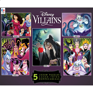 Disney Villains: 5 In 1 Jigsaw Puzzle Collection #2