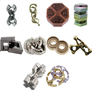 .Level 10 - a set of 10 Hanayama puzzles