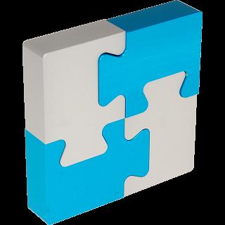 4 Piece Metal Puzzle