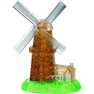 3D Crystal Puzzle Deluxe - Windmill