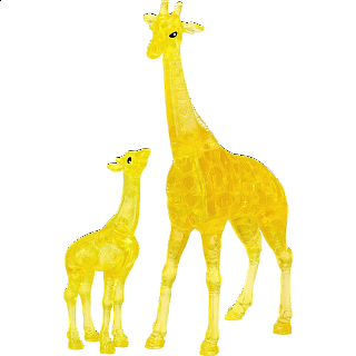 3D Crystal Puzzle - Giraffe & Baby