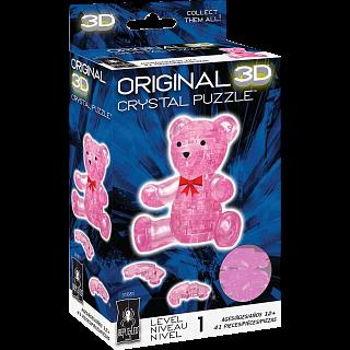 3D Crystal Puzzle - Teddy Bear (Pink)