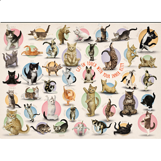 Yoga Kittens - Large Piece Family Puzzle
