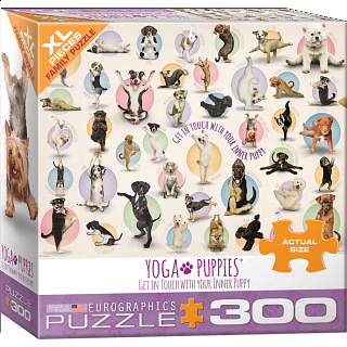 Yoga Puppies - Large Piece Family Puzzle