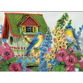 Country Cottage - Large Piece Family Puzzle