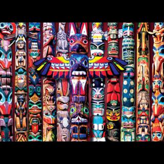 Totem Dreams - Large Piece Jigsaw Puzzle