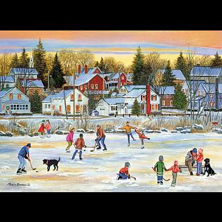 Evening Skating - Patricia Bourque