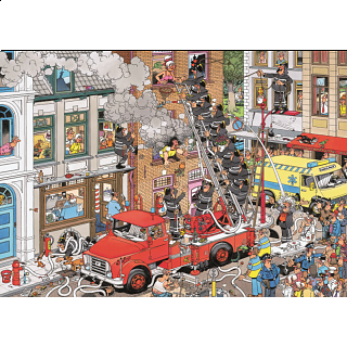 Jan van Haasteren Comic Puzzle - Fire!