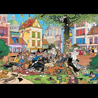 Jan van Haasteren Comic Puzzle - Get That Cat! (1000 Piece)