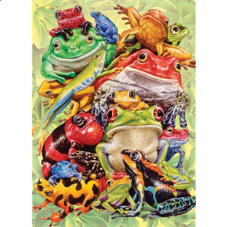 Frog Pile - Family Piece Puzzle