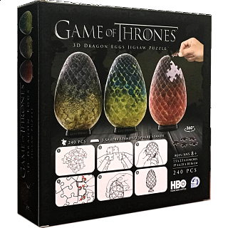 Game of Thrones: 3D Dragon Eggs Jigsaw Puzzle