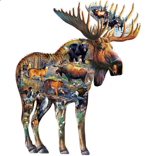 Walk on the Wild Side - Shaped Jigsaw Puzzle