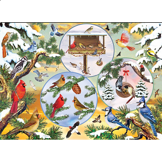 Winterbird Magic - Large Piece