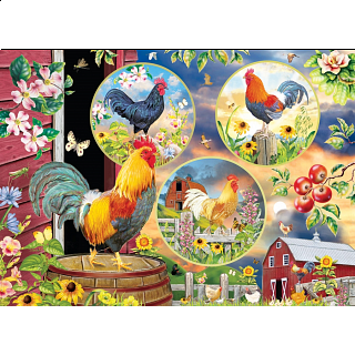 Rooster Magic - Large Piece