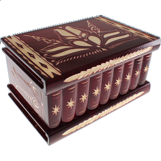 Romanian Puzzle Box - Extra Large Red
