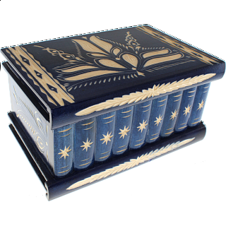 Romanian Puzzle Box - Extra Large Blue