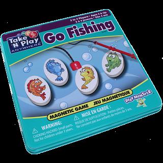 Take 'N' Play Anywhere Go Fishing Magnetic Game Tin