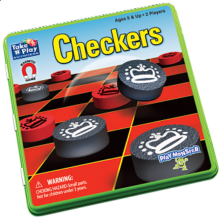 Take 'N' Play Anywhere Checkers Magnetic Game Tin