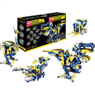 12-in-1 Solar Hydraulic Robotic Kit