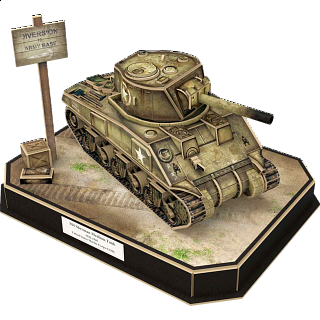 Armibuild U.S. M4A4 Sherman Tank - 3D Push-Fit Model