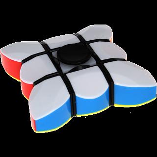 Fidget Spinner & 3x3x1 Super Floppy Cube - Black Body