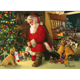 Santa's Lucky Stocking - Family Pieces Puzzle