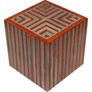 Silver City Luxe Kit - Wooden DIY Puzzle Box (Gray/Red)