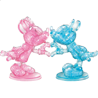 3D Crystal Puzzle Deluxe - Minnie & Mickey Heart