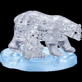 3D Crystal Puzzle - Polar Bear & Baby