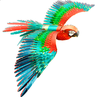 Metal Earth: Iconx 3D Metal Model Kit - Parrot (Jubilee Macaw)