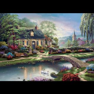 Thomas Kinkade - Stoney Creek Cottage