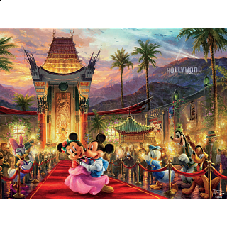 Thomas Kinkade: Disney - Mickey and Minnie Hollywood