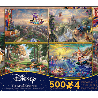 Thomas Kinkade: Disney 4 in 1 Jigsaw Puzzle Collection#5