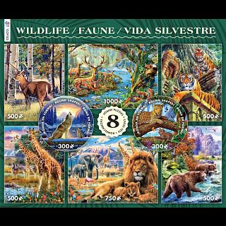 8 in 1 Puzzle Set - Wildlife