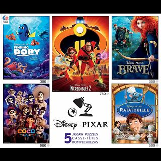 Disney Pixar: 5 in 1 Jigsaw Puzzle Multi-Pack