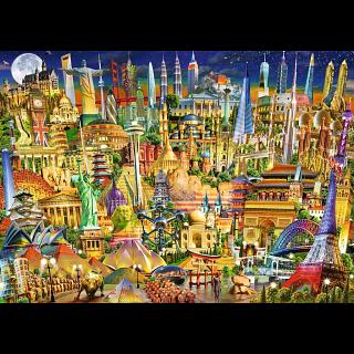 World Landmarks by Night