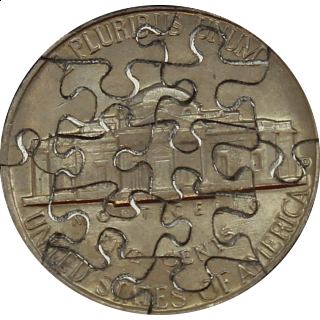14 Piece Nickel - Coin Jigsaw Puzzle