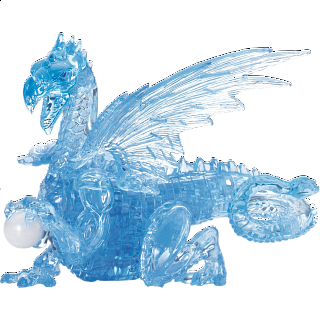 3D Crystal Puzzle Deluxe - Dragon (Blue)