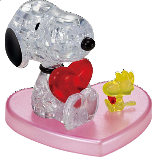 3D Crystal Puzzle - Snoopy Heart