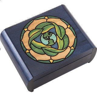 Earth Puzzle Box