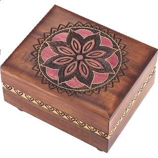 Floral Pattern #2 Puzzle Box